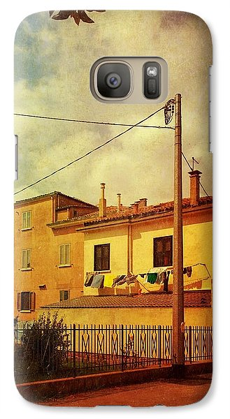 Galaxy Case featuring the photograph Laundry Day by Anne Kotan