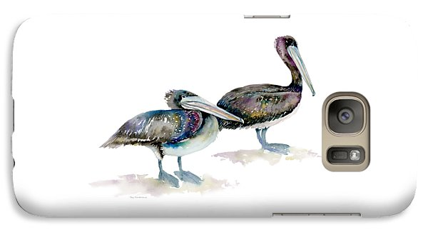 Laurel And Hardy, Brown Pelicans Galaxy Case by Amy Kirkpatrick