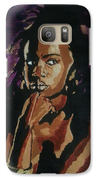Galaxy Case featuring the painting Lauryn Hill by Rachel Natalie Rawlins