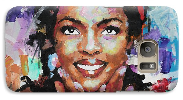 Galaxy Case featuring the painting Lauryn Hill by Richard Day