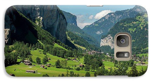 Galaxy Case featuring the photograph Lauterbrunnen Mountain Valley - Swiss Alps - Switzerland by Gary Whitton