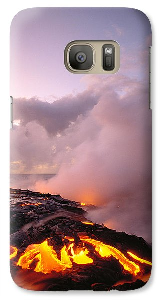 Lava Flows At Sunrise Galaxy Case by Peter French - Printscapes