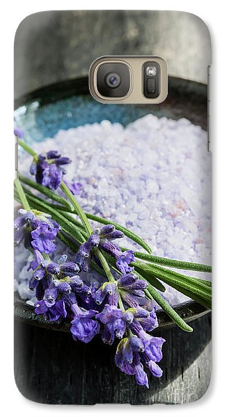 Galaxy Case featuring the photograph Lavender Bath Salts In Dish by Elena Elisseeva