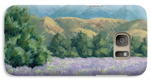 Galaxy Case featuring the painting Lavender, Blue And Gold by Sandy Fisher