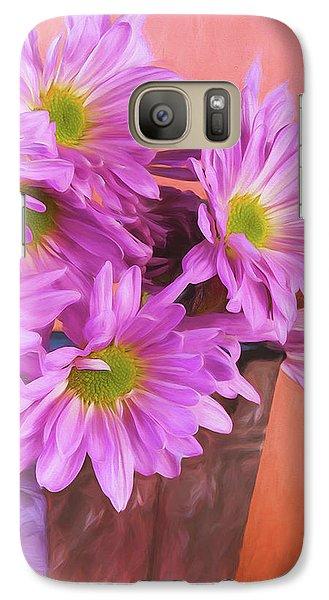 Daisy Galaxy S7 Case - Lavender Daisies by Tom Mc Nemar