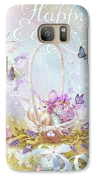 Galaxy Case featuring the mixed media Lavender Easter by Mo T