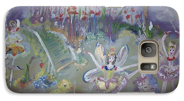 Galaxy Case featuring the painting Lavender Fairies by Judith Desrosiers