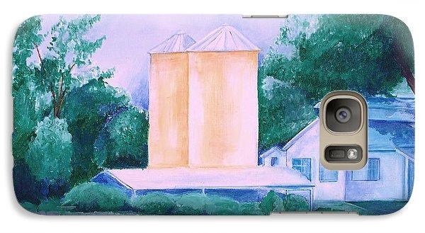 Galaxy Case featuring the painting Lavender Farm Albuquerque by Eric  Schiabor