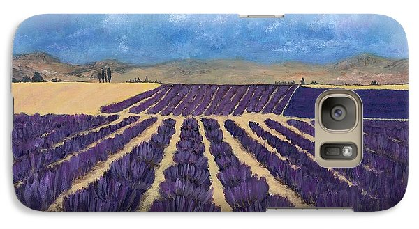 Galaxy Case featuring the painting Lavender Field by Anastasiya Malakhova
