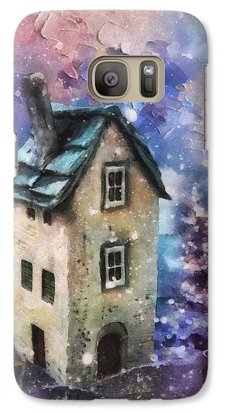 Galaxy Case featuring the painting Lavender Hill by Mo T