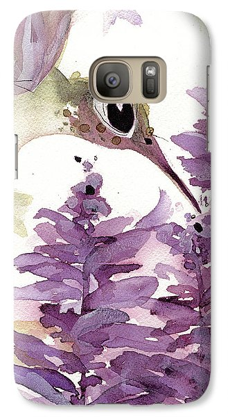 Galaxy Case featuring the painting Lavender Hummer by Dawn Derman
