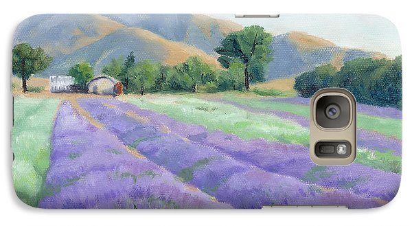 Galaxy Case featuring the painting Lavender Lines by Sandy Fisher