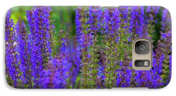 Galaxy Case featuring the digital art Lavender Patch by Chris Flees