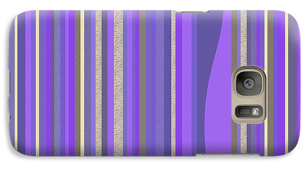 Galaxy Case featuring the digital art Lavender Random Stripe Abstract by Val Arie