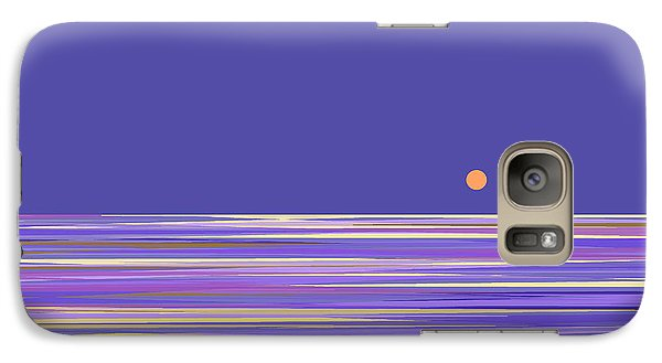 Galaxy Case featuring the digital art Lavender Sea by Val Arie
