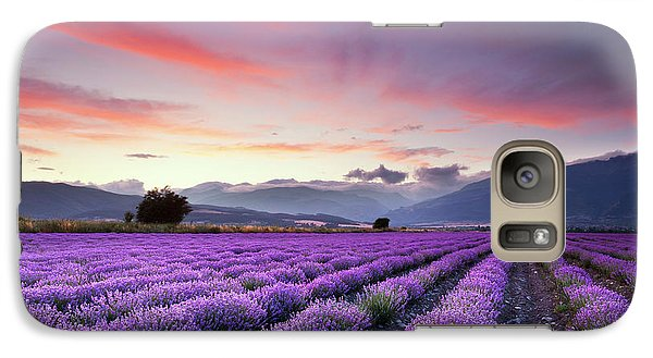 Landscapes Galaxy S7 Case - Lavender Season by Evgeni Dinev