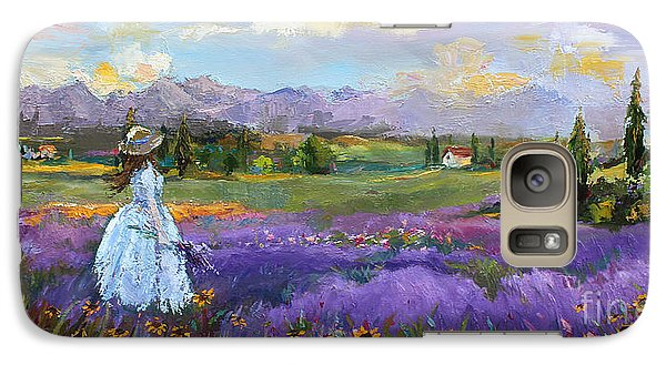 Galaxy Case featuring the painting Lavender Splendor  by Jennifer Beaudet