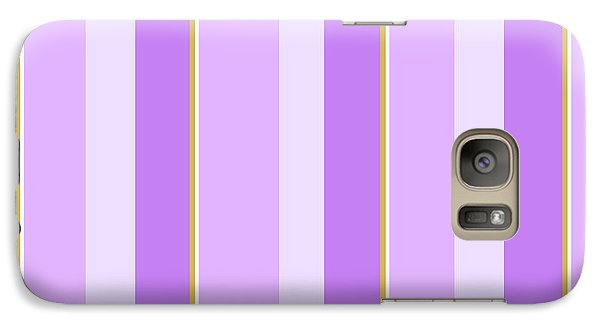 Galaxy S7 Case featuring the mixed media Lavender Stripe Pattern by Christina Rollo