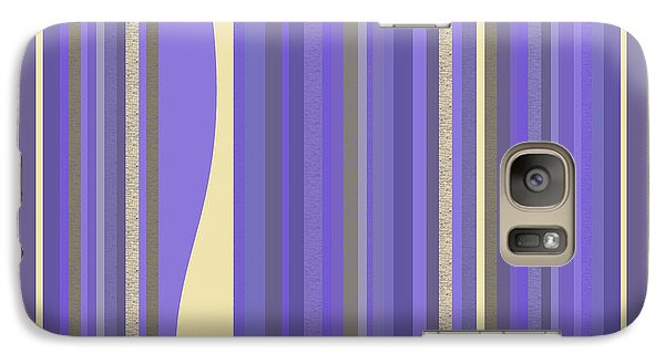 Galaxy Case featuring the digital art Lavender Twilight - Stripes by Val Arie