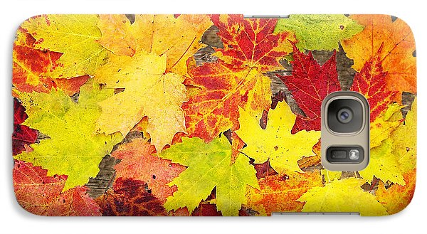 Galaxy Case featuring the photograph Layered In Leaves by Kathi Mirto