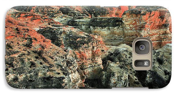 Galaxy S7 Case featuring the photograph Layers In The Kansas Badlands by Kyle Findley