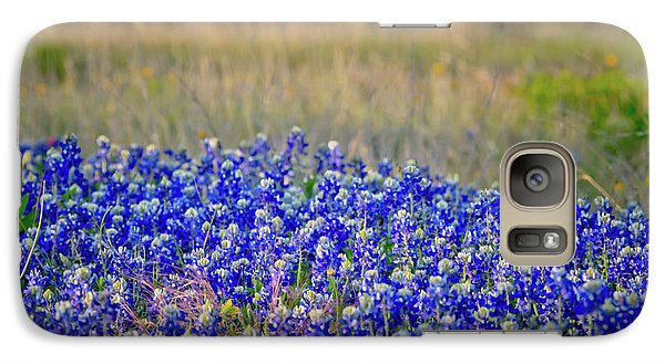 Galaxy Case featuring the photograph Layers Of Blue by Linda Unger