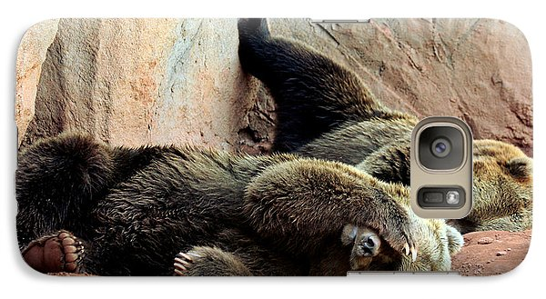 Galaxy Case featuring the photograph Lazy Bears by Sheila Brown