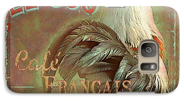 Galaxy Case featuring the digital art Le Coq - Cafe Francais by Jeff Burgess