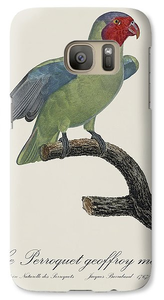 Le Perroquet Geoffroy Male / Red Cheeked Parrot - Restored 19th C. By Barraband Galaxy S7 Case by Jose Elias - Sofia Pereira