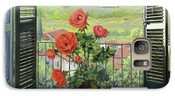 Rose Galaxy S7 Case - Le Persiane Sulla Valle by Guido Borelli