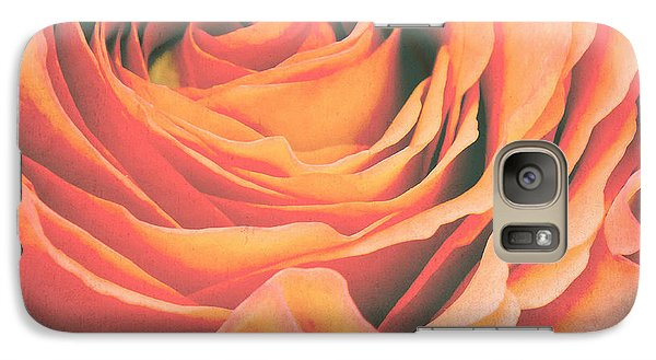 Rose Galaxy S7 Case - Le Petale De Rose by Angela Doelling AD DESIGN Photo and PhotoArt