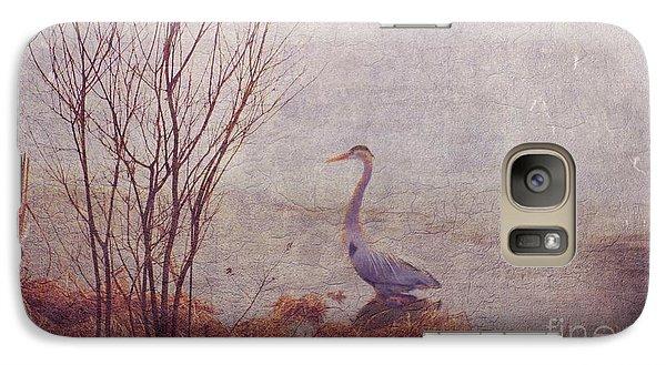 Galaxy Case featuring the photograph Le Retour De Mon Heron by Aimelle