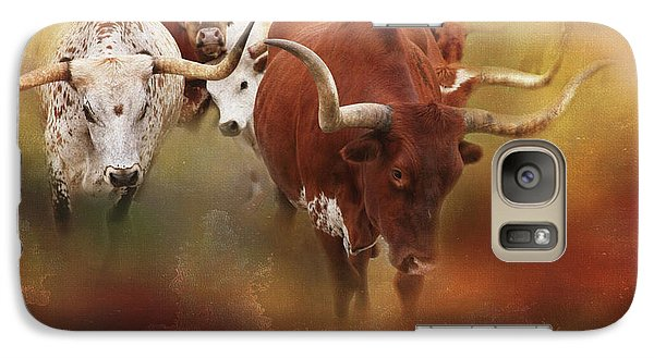 Galaxy Case featuring the photograph Leading The Herd by Toni Hopper