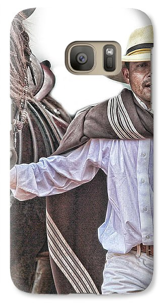 Galaxy Case featuring the photograph Leading To Competition Peruvian Horse by Toni Hopper