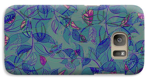 Galaxy Case featuring the painting Leaf Mesh by Linde Townsend