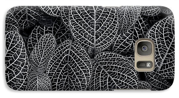 Galaxy Case featuring the photograph Leaf Pattern by Wayne Sherriff