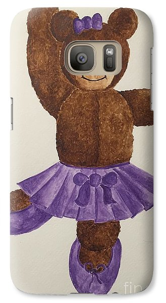 Galaxy Case featuring the painting Leah's Ballerina Bear 1 by Tamir Barkan