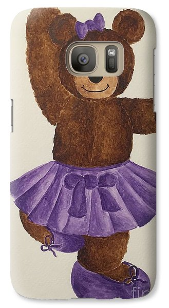 Galaxy Case featuring the painting Leah's Ballerina Bear 2 by Tamir Barkan