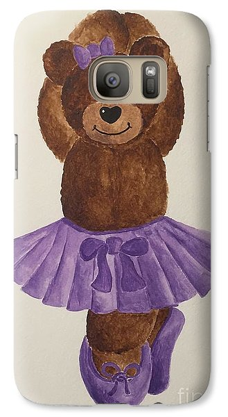 Galaxy Case featuring the painting Leah's Ballerina Bear 3 by Tamir Barkan