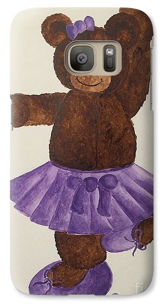 Galaxy Case featuring the painting Leah's Ballerina Bear 4 by Tamir Barkan
