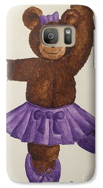 Galaxy Case featuring the painting Leah's Ballerina Bear 5 by Tamir Barkan