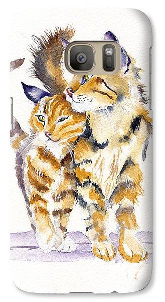 Cat Galaxy S7 Case - Lean On Me by Debra Hall