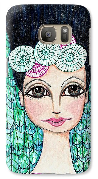 Galaxy Case featuring the mixed media Leap Of Faith by Lisa Noneman