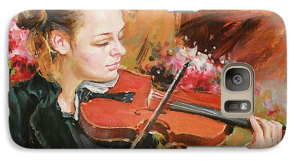 Violin Galaxy S7 Case - Learning The Violin by Conor McGuire