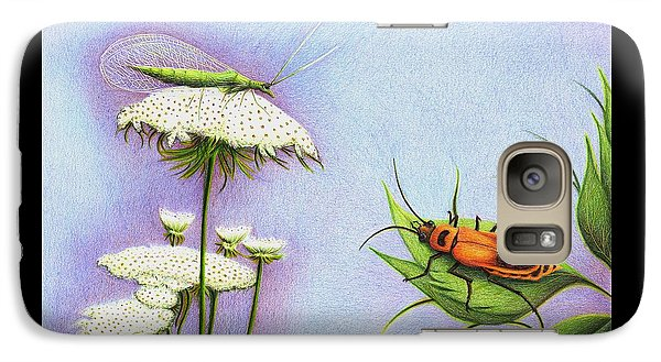 Galaxy Case featuring the drawing Leather And Lace... For The Gardeners by Danielle R T Haney