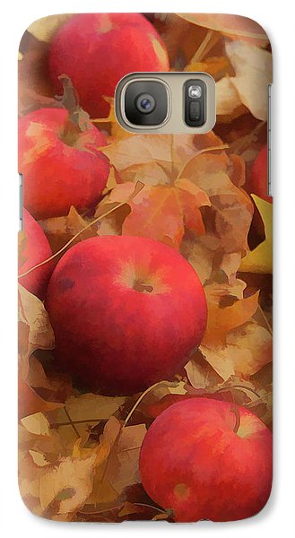 Galaxy Case featuring the photograph Leaves And Apples by Michael Flood