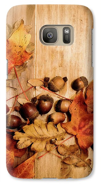 Galaxy Case featuring the photograph Leaves And Nuts 2 by Rebecca Cozart