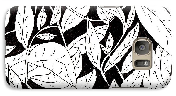 Galaxy Case featuring the drawing Leaves by Lou Belcher