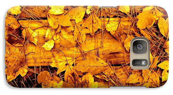 Galaxy Case featuring the photograph Leaves Of Sepia by Cathy Dee Janes
