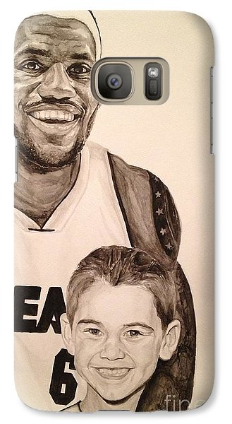 Galaxy Case featuring the painting Lebron And Carter by Tamir Barkan